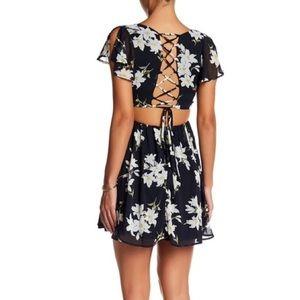 Just Me Floral Print Dress